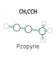 CH3CCH propyne molecule vector image vector image