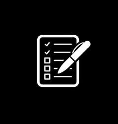 Check list icon business concept flat design vector