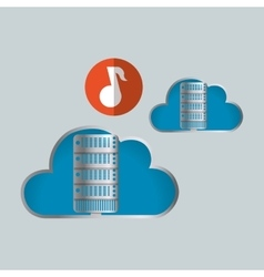 Cloud computing design Trip icon Flat vector image