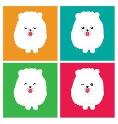 dog Pomeranian vector image