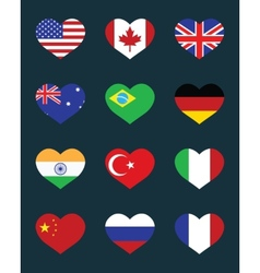 flags of States vector image vector image