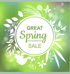 great spring sale banner vector image vector image