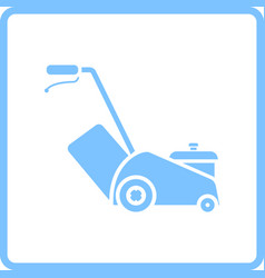 Lawn mower icon vector