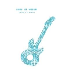 Light blue swirls damask guitar music vector