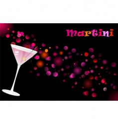 martini cocktail vector image vector image