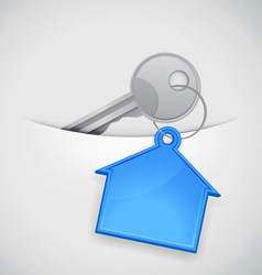 new house keys vector image vector image