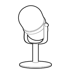 Retro microphone icon isometric 3d style vector