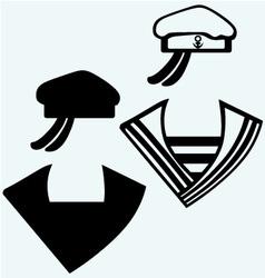 Sailor cap vector image