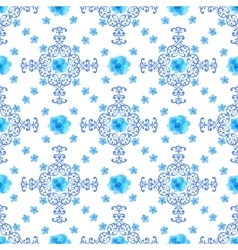 Seamless floral background Isolated blue flowers vector image vector image