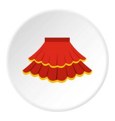 Skirt icon circle vector