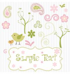 spring elements vector image