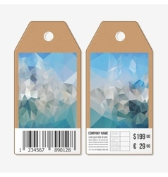Tags on both sides cardboard sale labels with vector