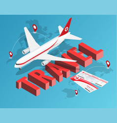 To travel is to live tickets and passenger vector