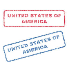 United states of america textile stamps vector