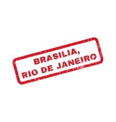 Brasilia rio de janeiro rubber stamp vector