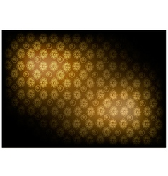 Brown vintage wallpaper with flower pattern vector