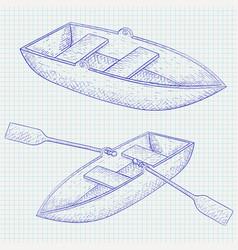 Boat hand drawn sketch vector