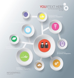 Circle of abstract business infographic background vector
