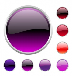 Buttons set vector