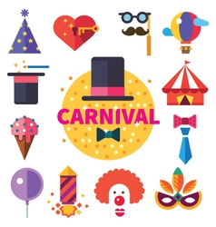 Carnival tricks sweets and smiles vector