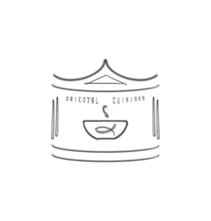 Oriental cuisine logo template ethnic design for vector