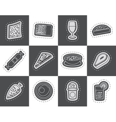 Shop food and drink icons 2 vector