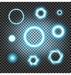 Glowing light burst circles on a plaid dark black vector