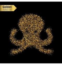 Gold glitter object vector
