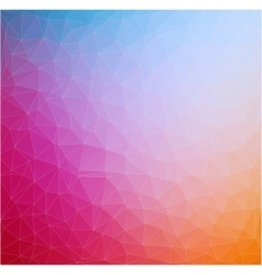 Abstract 2d triangle geometric colorful background vector