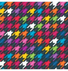 Abstract background with houndstooth print vector