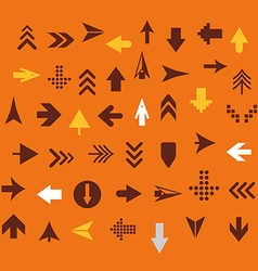 Arrow sign silhouettes collection retro style vector image