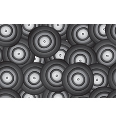 Background of curved rounds vector image