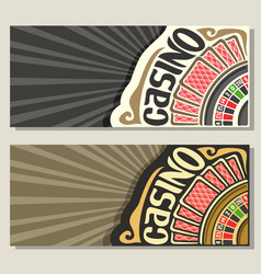 Banners for casino vector