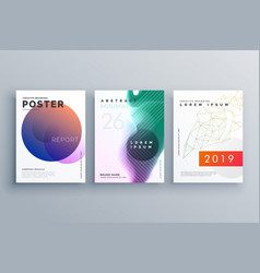 Brochure templates set in minimal style for vector