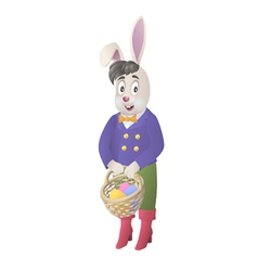 Bunny and a basket vector image