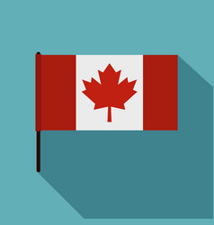 Canadian flag icon flat style vector