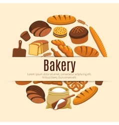 Cereal bread or pastry food banner vector