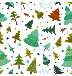 Christmas tree seamless pattern flat design colour vector