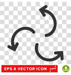 Cyclone arrows round eps icon vector