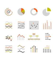 Different graphic ratings and charts Lineart vector image