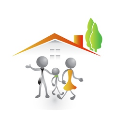Family in a new house vector image