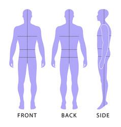 Fashion man figure vector