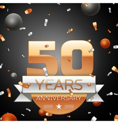 Fifty years anniversary celebration background vector