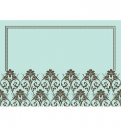 floral patterned frame vector image