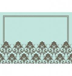 floral patterned frame vector image vector image
