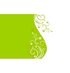 Green and white flower background vector image vector image