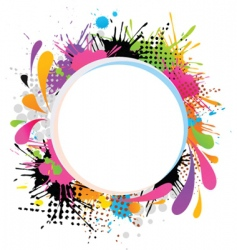 grunge paint frame vector image