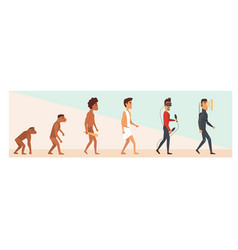 human evolution and future vector image