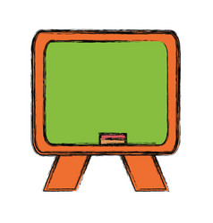 isolated blackboard cartoon vector image