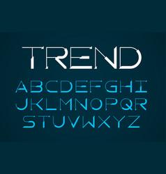 Modern thin font trendy style english alphabet vector